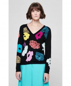 Virgin Wool Embellished Sweater