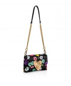 Printed Leather Heart Bag