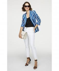 Cotton-Stretch Striped Blazer【ジャケット】