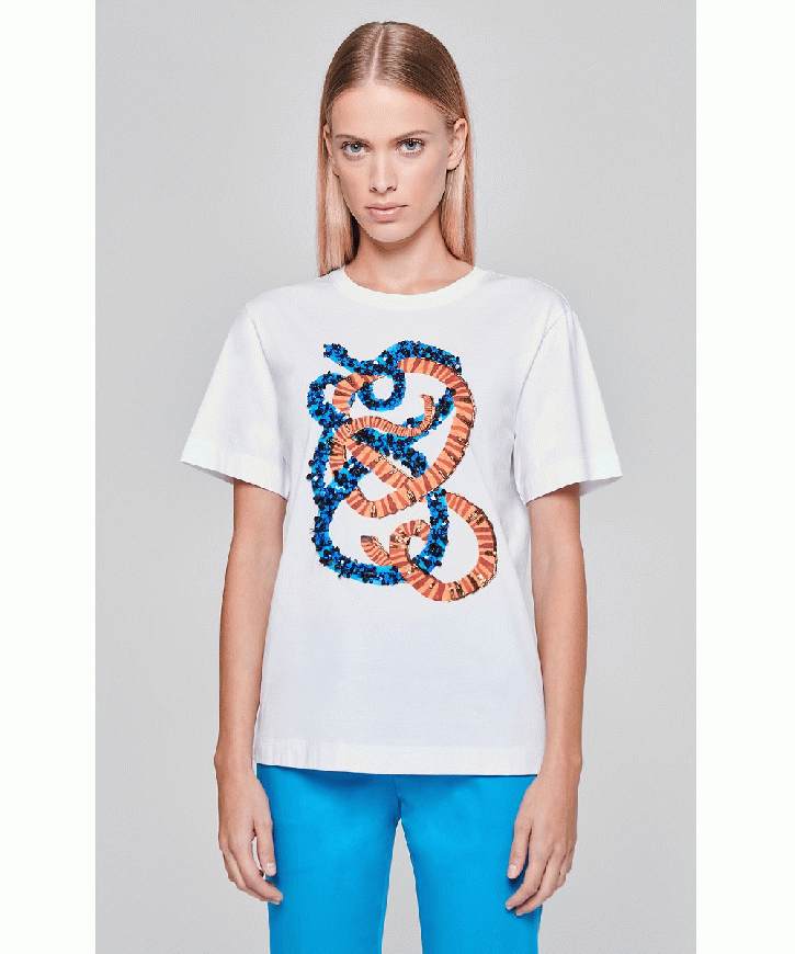 Sequin-Embroidered T-shirt